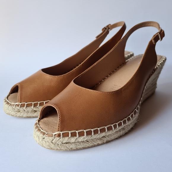 Jo Mercer Tan Leather Espadrilles Weddmges Shoes